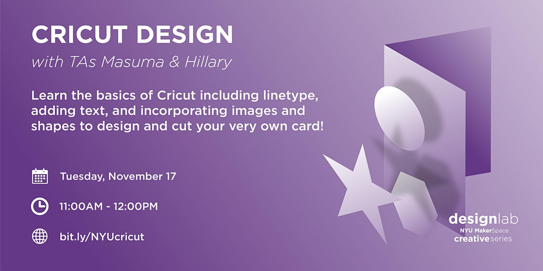 Cricut Design Workshop Flyer
