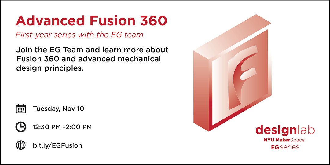 Advanced Fusion 360 with EG Workshop Flyer