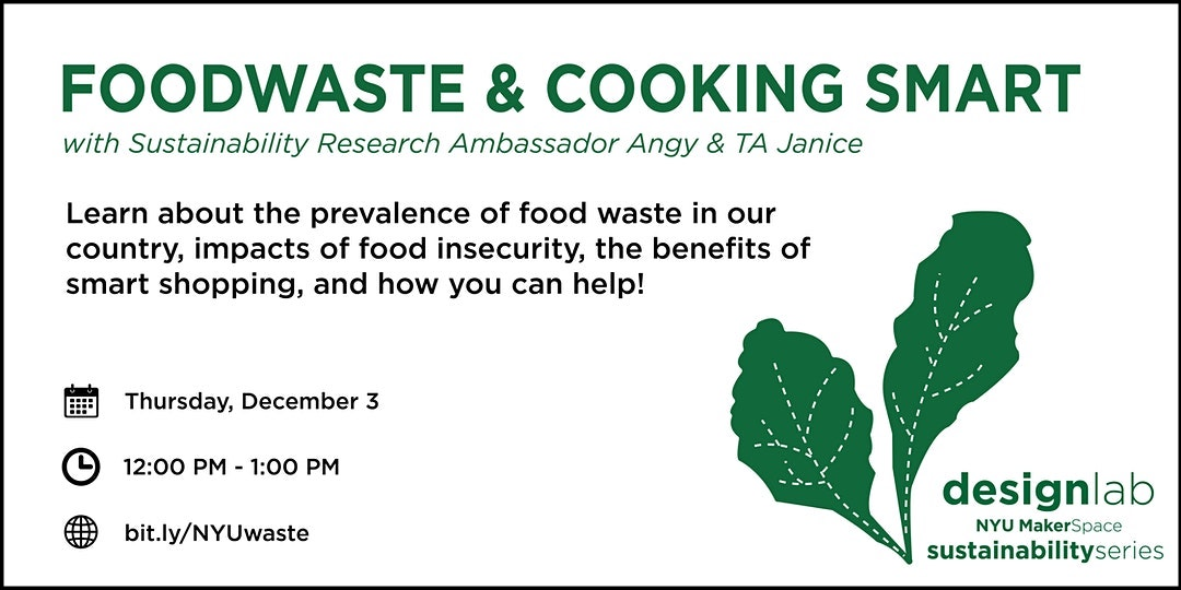 Food Waste and Cooking Smart Workshop Flyer
