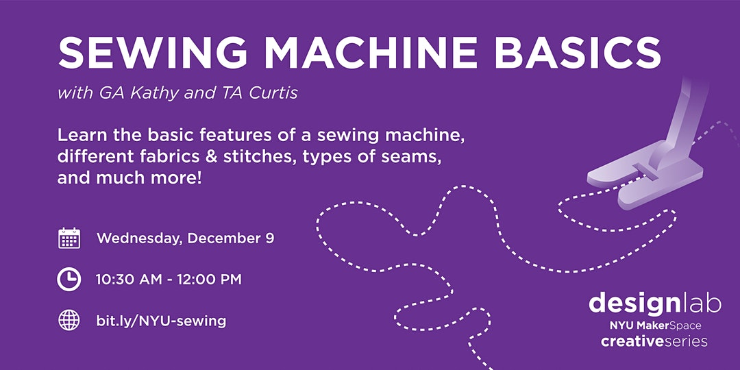 Sewing Machine Basics Workshop Flyer