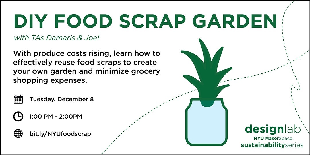 DIY Food Scrap Garden Workshop Flyer