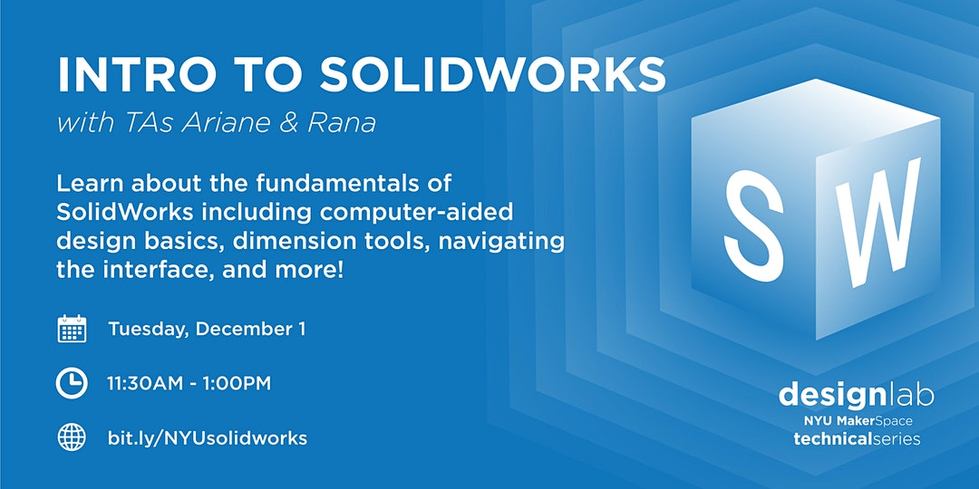 Intro to SolidWorks Workshop Flyer