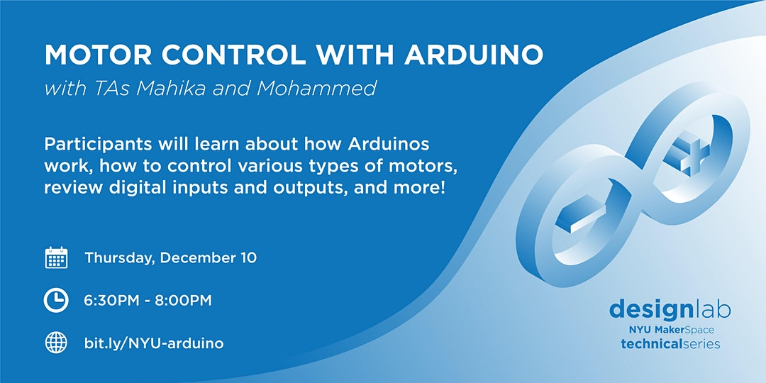 Motor Controls with Arduino Workshop Flyer
