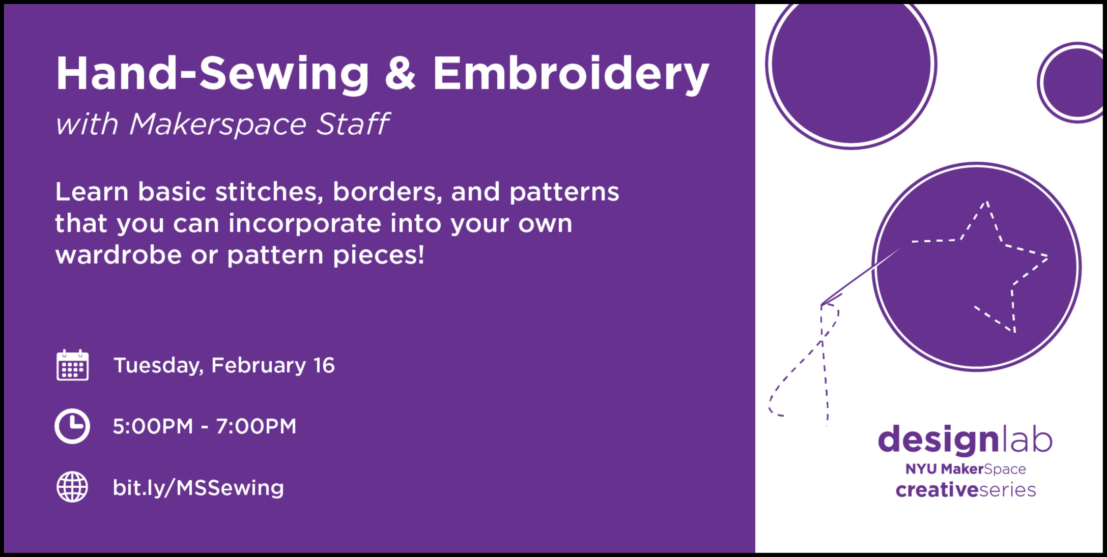 Hand-sewing & Embroidery - flyer
