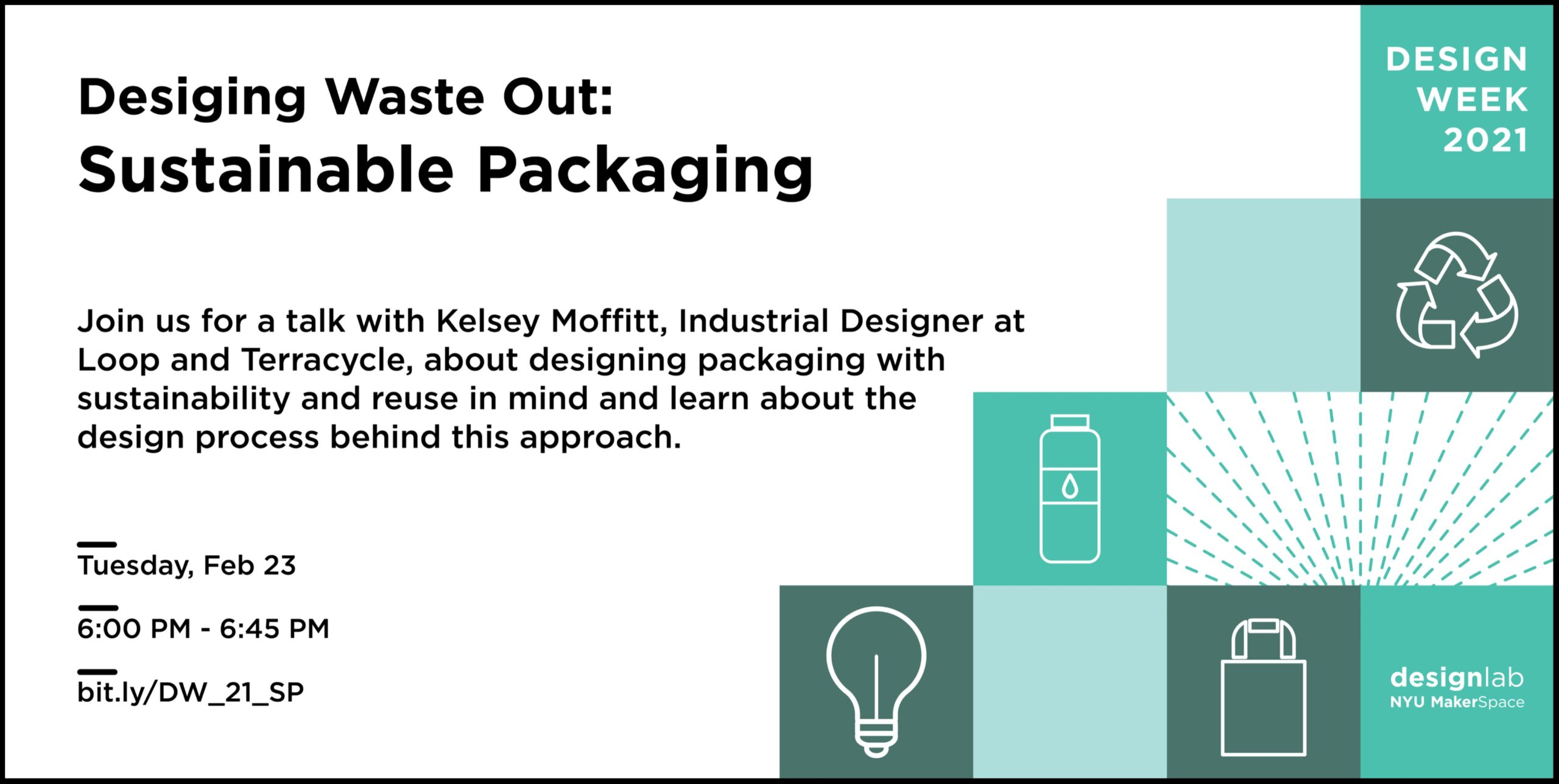 Design Week 2021 Sustainable Packaging Flyer