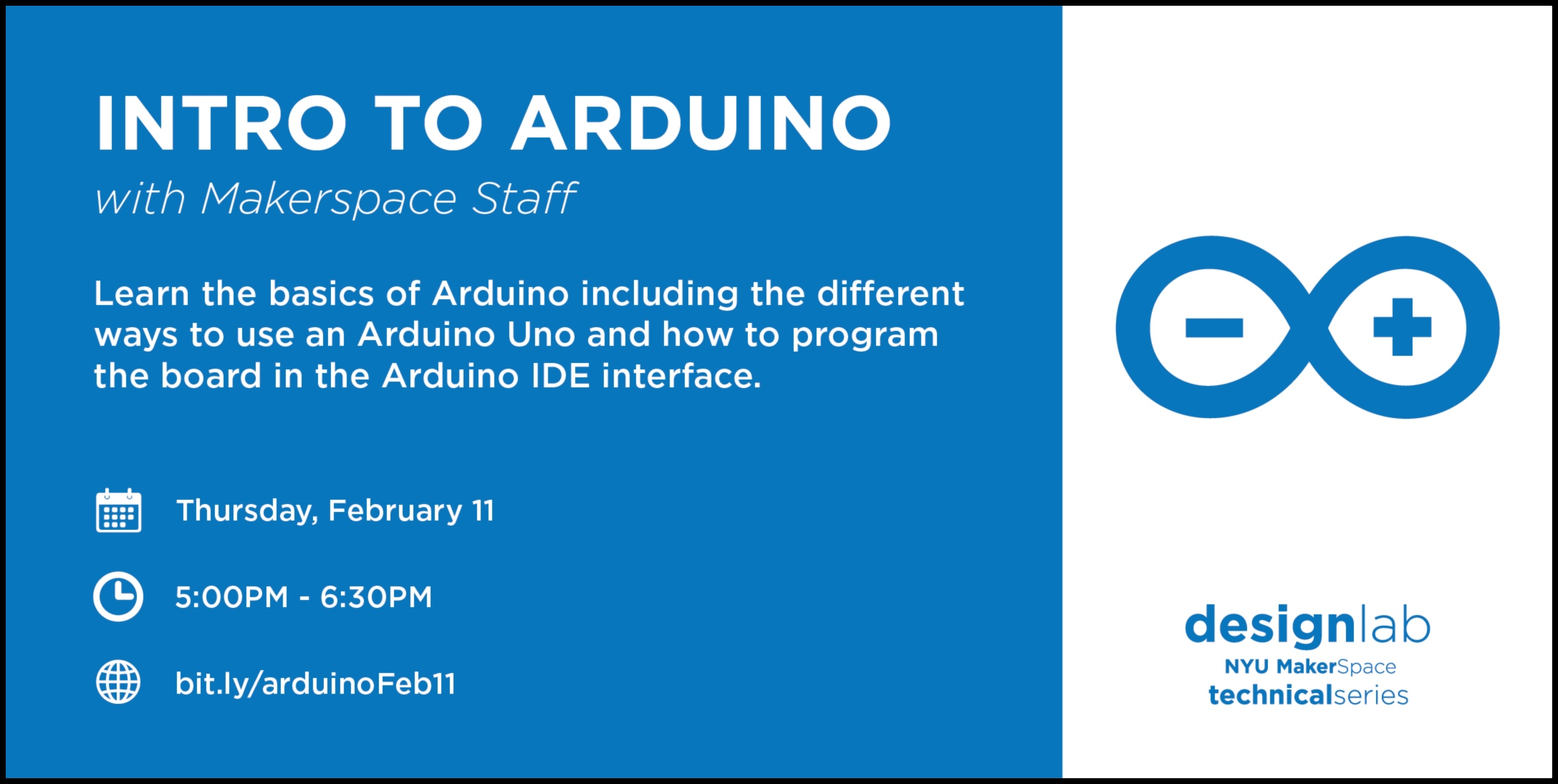 intro to arduino - flyer