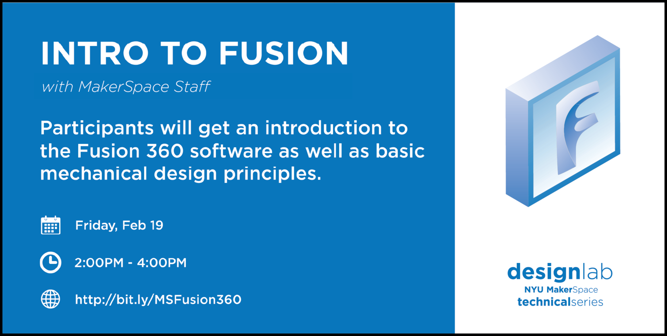 intro to fusion 360 flyer