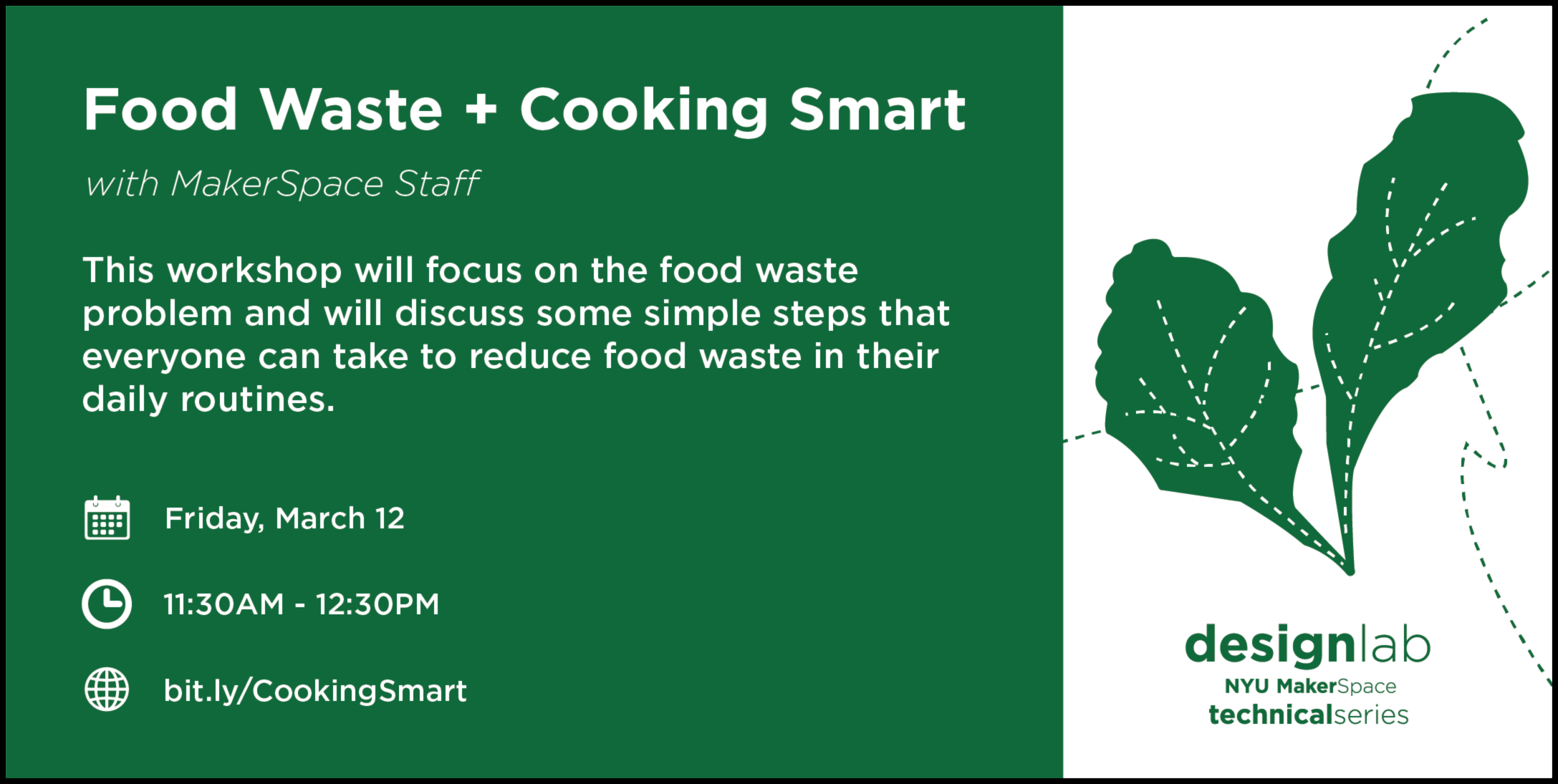 Food Waste and Cooking Smart Flyer