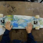 Picture of a longboard.