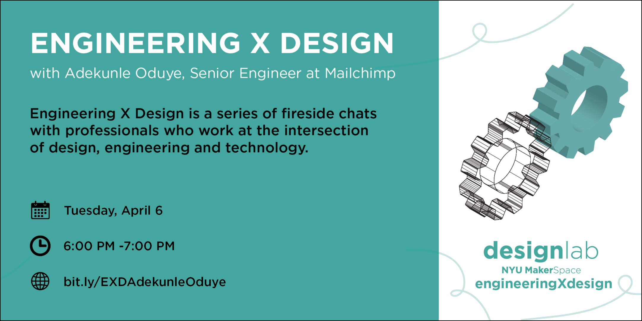 Engineering X Design with Adekunle Oduye Flyer