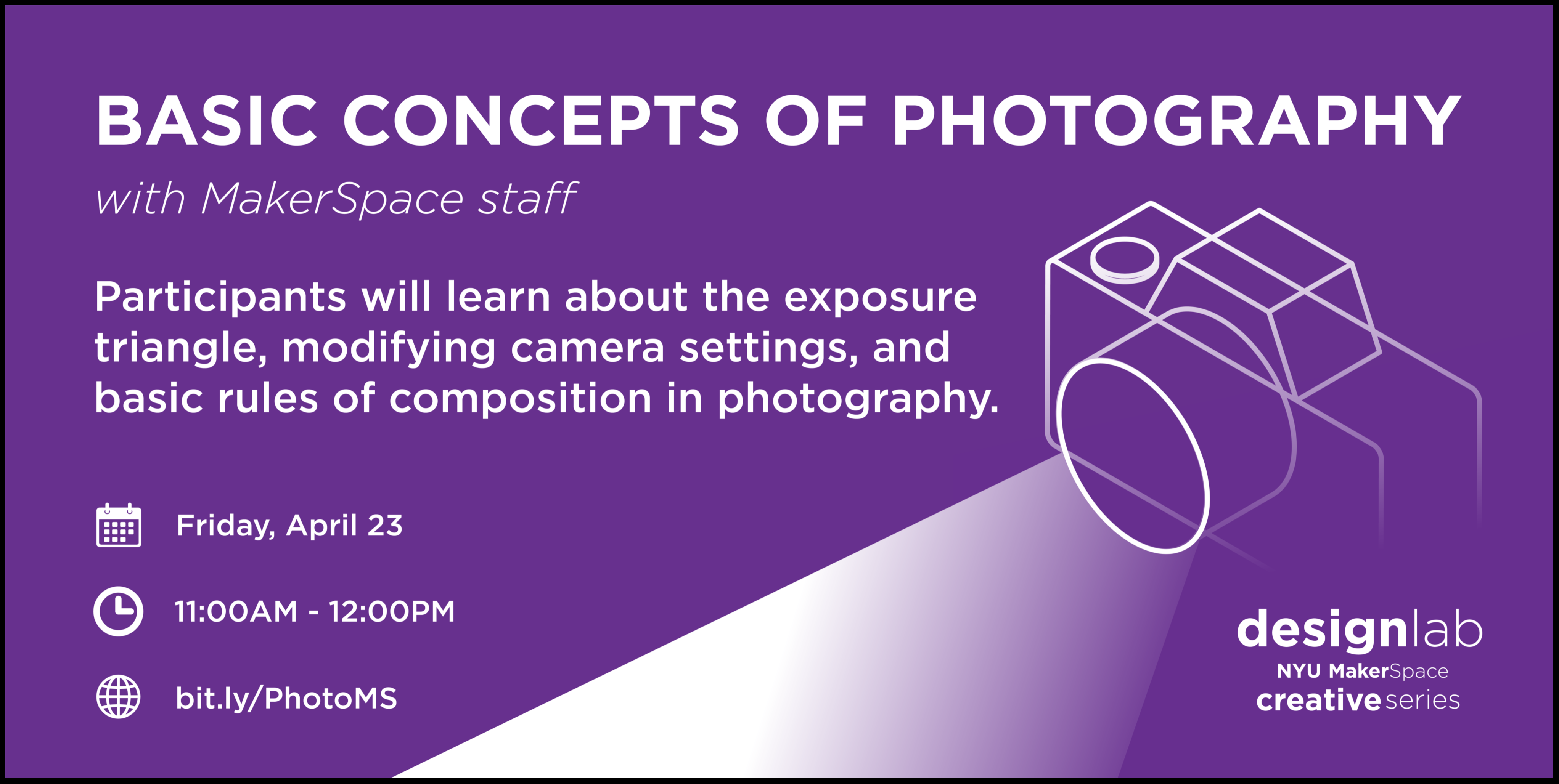 Basic Concepts of Photography Flyer