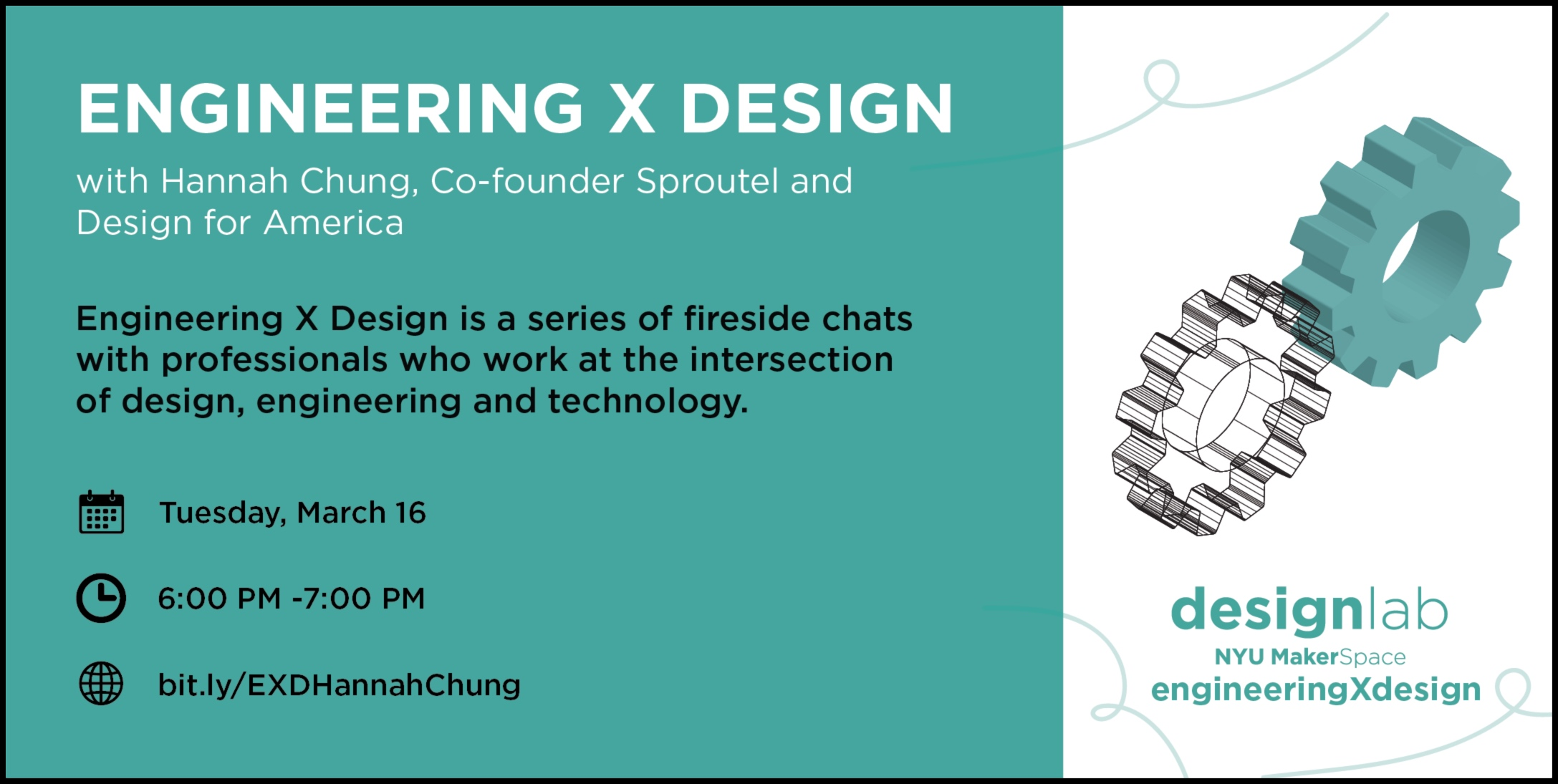 Engineering X Design with Hannah chung Flyer
