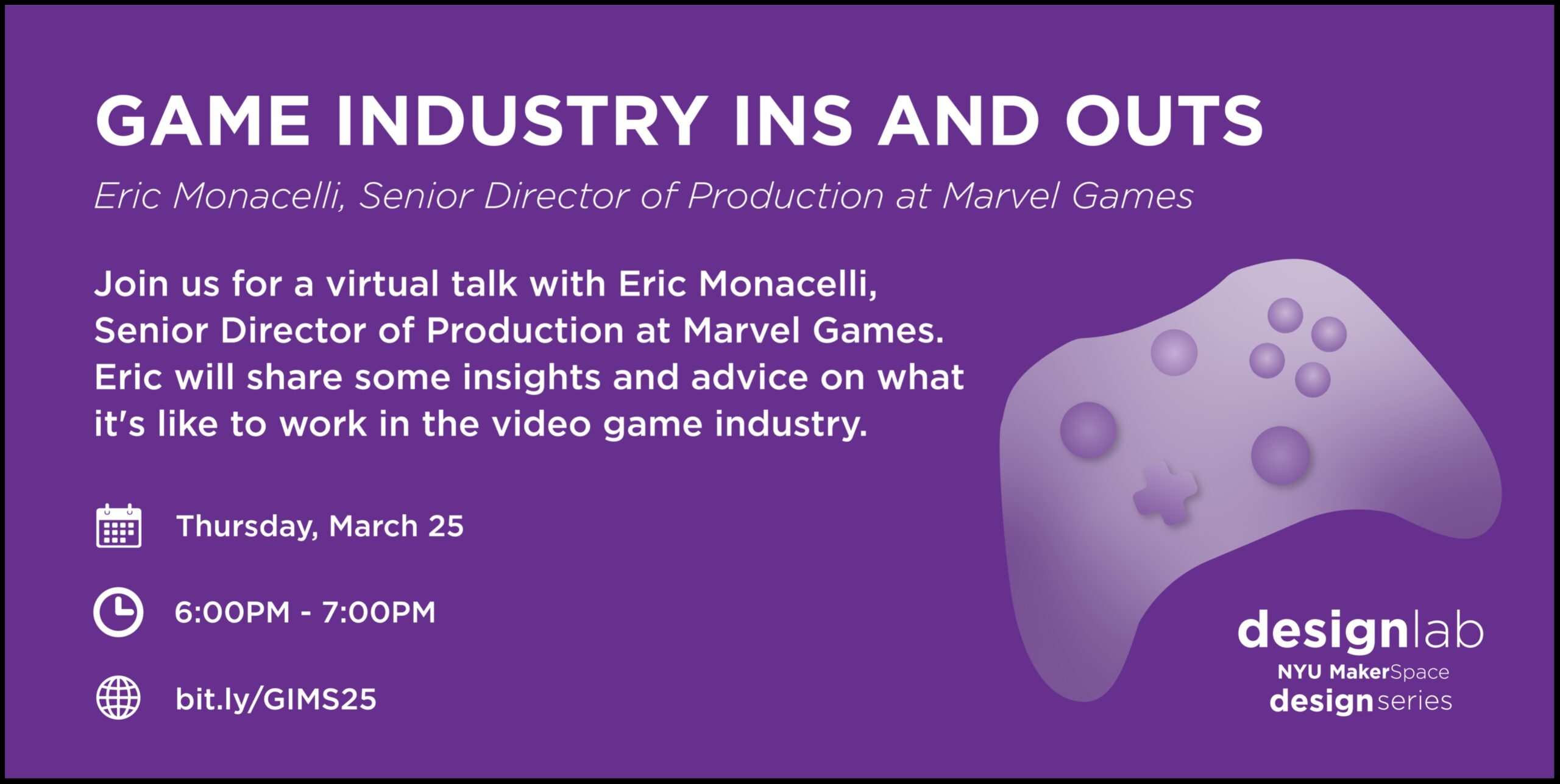 Game Industry Ins and Outs Flyer
