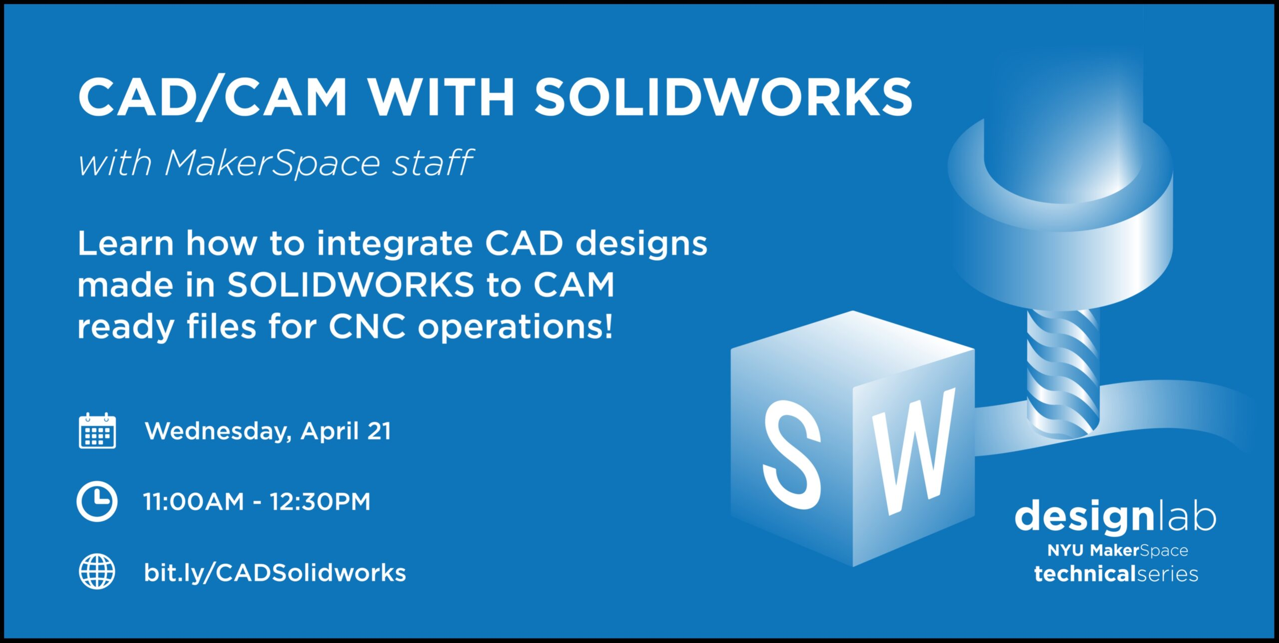 CAD CAM with Solidworks Flyer