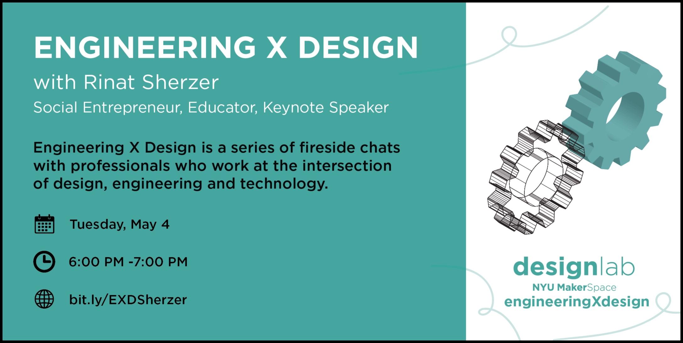 Engineering X Design Rinat Sherzer Flyer