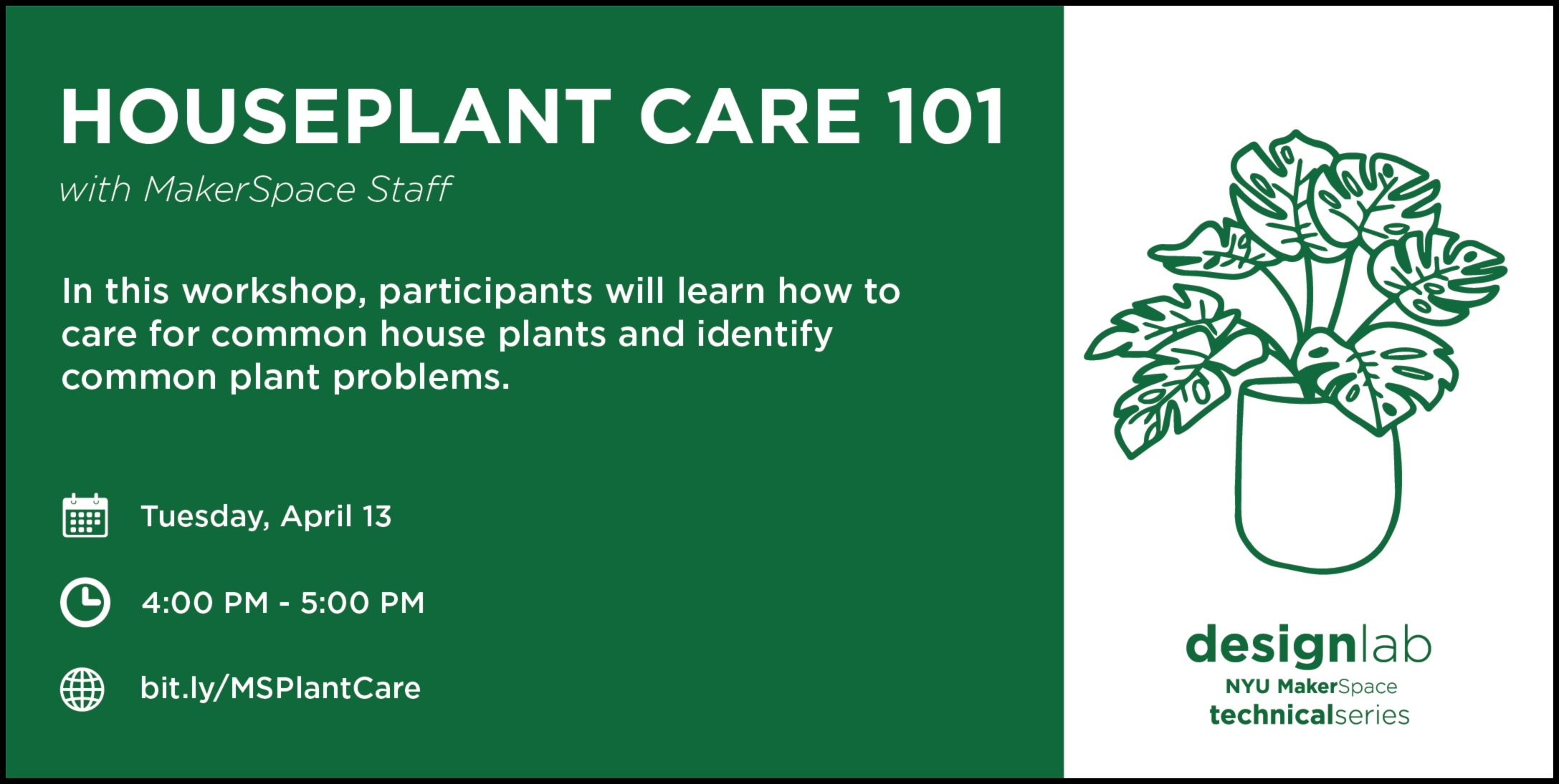 Houseplant Care 101 Flyer Spring 2021